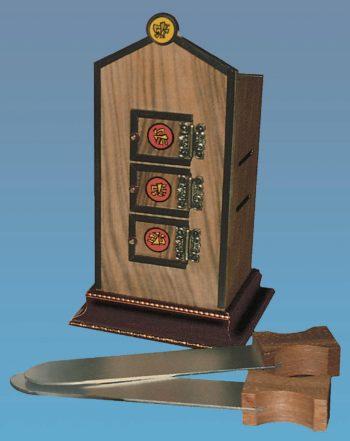 Mini Chinese Flame Clock Walnut